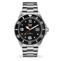 Ice-Watch - ICE steel Black silver - Men's wristwatch with metal strap - 016032 (Large) von Ice-Watch