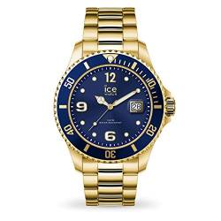 Ice-Watch - Ice Steel Gold blue - Gold Herrenuhr mit Metallarmband - 016762 (Large) von Ice-Watch