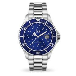 Ice-Watch - ICE steel Blue cosmos silver - Women's wristwatch with metal strap - 016773 (Medium) von Ice-Watch