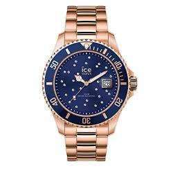 Ice-Watch - Ice Steel Blue Cosmos rose-gold - Rose-Gold Damenuhr mit Metallarmband - 016774 (Medium) von Ice-Watch