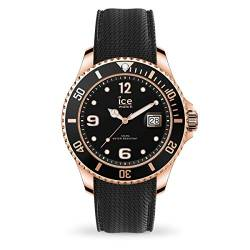 Ice-Watch - ICE steel Black Rose-Gold - Men's wristwatch with silicon strap - 016766 (Large) von Ice-Watch