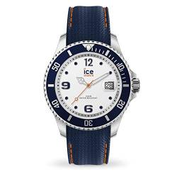 Ice-Watch - ICE steel White blue - Blaue Herrenuhr mit Silikonarmband - 016771 (Medium) von Ice-Watch