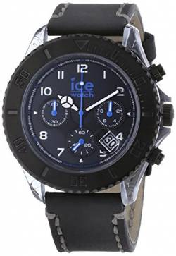 Ice-Watch Herren-Armbanduhr XL Vintage Chronograph Quarz Leder VT.CH.BK.BB.L.14 von Ice-Watch