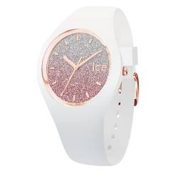 Ice-Watch - Ice Lo Weiß Rosa - Damen wristwatch mit Silikonarmband - 013427 (Small) von Ice-Watch