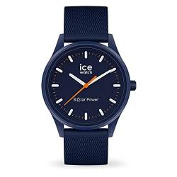 Ice-Watch - ICE solar power Atlantic Mesh - Blaue Herren/Unisexuhr mit Silikonarmband - 018393 (Medium) von Ice-Watch