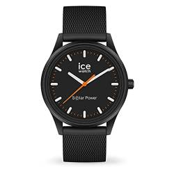 Ice-Watch - ICE solar power Rock Mesh - Schwarze Herren/Unisexuhr mit Silikonarmband - 018392 (Medium) von Ice-Watch