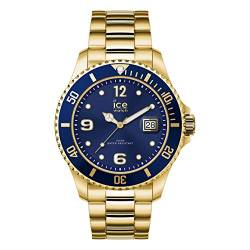 Ice-Watch - ICE steel Gold blue - Gold Herrenuhr mit Metallarmband - 017326 (Extra large) von Ice-Watch