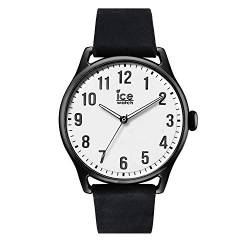 Ice-Watch - ICE time Black White - Men's wristwatch with leather strap - 013041 (Large) von Ice-Watch