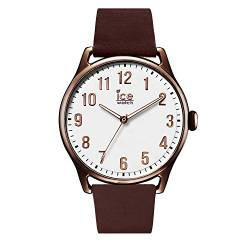Ice-Watch - ICE time Brown White - Men's wristwatch with leather strap - 013047 (Large) von ICE-WATCH