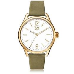 Ice-Watch - Ice Time Khaki Champagne - Grüne Damenuhr mit Lederarmband - 013071 (Small) von Ice-Watch