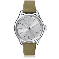 Ice-Watch - Ice Time Khaki Silver - Grüne Damenuhr mit Lederarmband - 013057 (Medium) von Ice-Watch