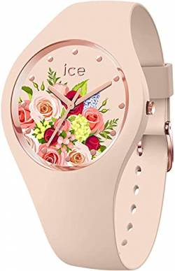 Ice-Watch - ICE flower Pink bouquet - Rosa Damenuhr mit Silikonarmband - 017583 (Medium) von Ice-Watch