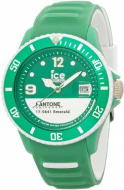 Ice-Watch Unisex-Armbanduhr Pantone Universe-Emerald White-Unisex Analog Quarz Silikon PAN.BC.EMW.U.S.13 von Ice-Watch