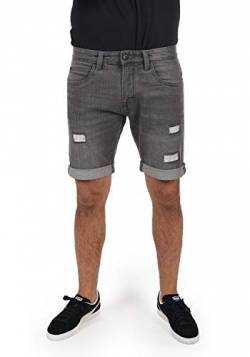 Indicode Hallow Herren Jeans Shorts Kurze Denim Hose Mit Destroyed-Optik Aus Stretch-Material Regular Fit, Größe:L, Farbe:Light Grey (901) von Indicode