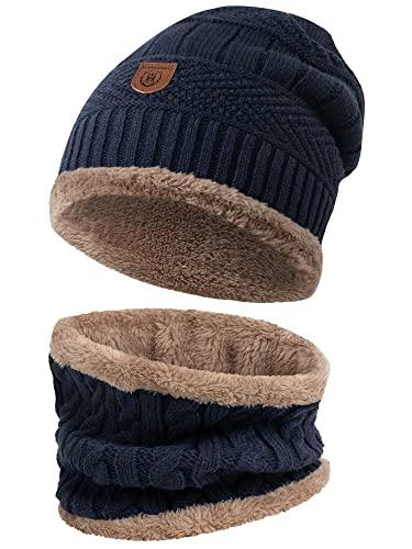 Glamexx24 Winter Long Slouch Beanie Mütze Damen Strickmütze Unisex Teddyfleece