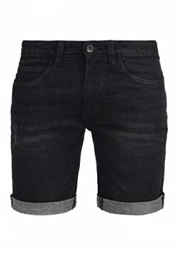 Indicode Quentin Herren Jeans Shorts Kurze Denim Hose Mit Destroyed-Optik Aus Stretch-Material Regular Fit, Größe:L, Farbe:Black (999) von Indicode