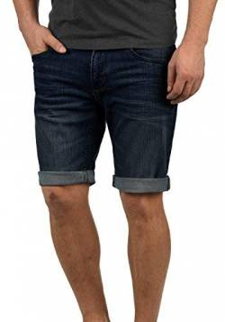 Indicode Quentin Herren Jeans Shorts Kurze Denim Hose Mit Destroyed-Optik Aus Stretch-Material Regular Fit, Größe:L, Farbe:Dark Blue (855) von Indicode