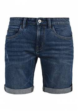 Indicode Quentin Herren Jeans Shorts Kurze Denim Hose Mit Destroyed-Optik Aus Stretch-Material Regular Fit, Größe:L, Farbe:Medium Indigo (869) von Indicode