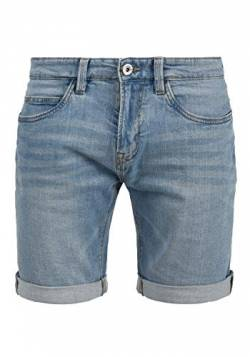 Indicode Quentin Herren Jeans Shorts Kurze Denim Hose Mit Destroyed-Optik Aus Stretch-Material Regular Fit, Größe:L, Farbe:Blue Wash (1014) von Indicode