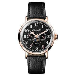 Ingersoll Men's The St Johns Quartz Watch withSchwarz Dial andSchwarz Leather Strap I01602 von Ingersoll