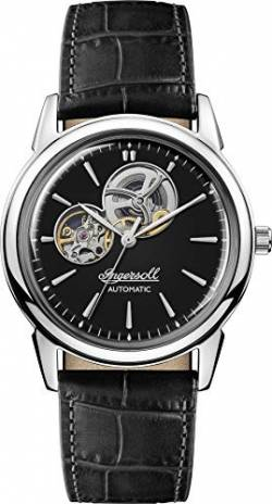 Ingersoll The New Haven Mens Automatic Watch I07302 with a Black Dial and a Black Genuine Leather Band von Ingersoll