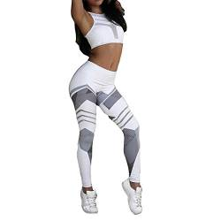 Inlefen Damen Leggings Hohe Taille Hose - Sport Gym Yoga Workout Pants Basic Fitness Sporthose Jogginghose Trainingshose Skinny Hosen von Inlefen