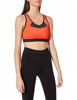 Amazon-Marke: Iris & Lilly Damen Racerback Sport-BH herausnehmbare Polster, Orange (Papayana/Black), S, Label: S von Iris & Lilly