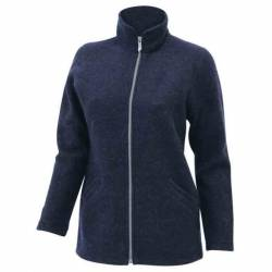 Ivanhoe of Sweden - Women's Brodal Long - Wolljacke Gr 36;38;40;42 schwarz/blau von Ivanhoe of Sweden