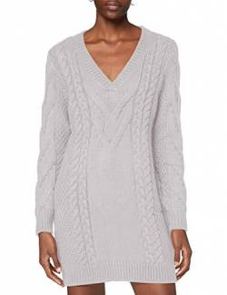 Ivy Revel DE Damen Cable Knit Dress Kleid, Grau (Light Grey Melange 50), X-Large (Herstellergröße:XL) von Ivy Revel DE