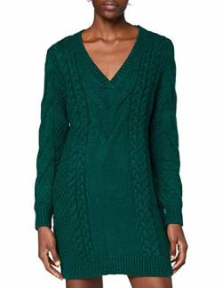 Ivy Revel DE Damen Cable Knit Dress Kleid, Grün (Dark Green 301), Medium (Herstellergröße:M) von Ivy Revel DE