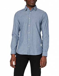 JACK & JONES Herren JJ30CLASSIC Shirt L/S Hemd, Light Blue/Fit:Comfort FIT, M von JACK & JONES