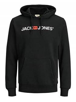 JACK & JONES Male Hoodie Logo LBlack von JACK & JONES