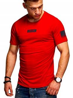 JACK & JONES Herren T-Shirt O-Neck Print Shirt (L, Tango Red) von JACK & JONES