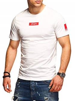 JACK & JONES Herren T-Shirt O-Neck Print Shirt (XXL, Cloud Dancer) von JACK & JONES