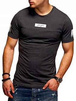 JACK & JONES Herren T-Shirt O-Neck Print Shirt (XXL, Dark Grey Melange) von JACK & JONES