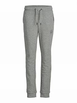 JACK & JONES Jungen JJIGORDON JJSHARK Sweat Pants at NOOS JR Trainingshose, Light Grey Melange, 128 von JACK & JONES