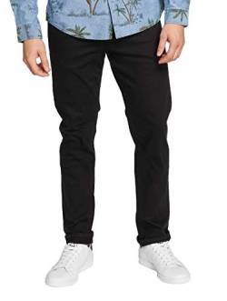 JACK & JONES - Mike ORIGINAL - Comfort Fit - Herren Jeans Hose, Hosengröße:W34/L32, Farbe:Schwarz (Black) von JACK & JONES