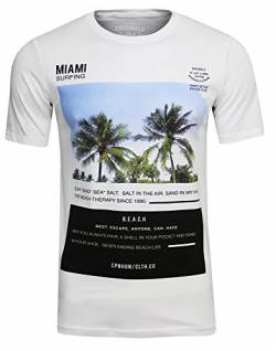 JACK & JONES Phone Freizeit/Sport/Club T-Shirt (White Mela,XL) von JACK & JONES