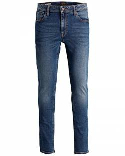 JACK & JONES Ubbo Herren Jeans Hose Denim Stretch Slim Fit, Größe:W33/34, Farbe:Blue Denim (NZ025) von JACK & JONES
