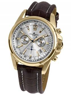 Jacques Lemans Herren-Uhren Analog Quarz One Size Braun/Gold 32016543 von JACQUES LEMANS