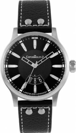 Jacques Lemans Unisex-Armbanduhr The Expendables 2 Analog Quarz Leder E-223 von JACQUES LEMANS