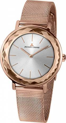 Jacques Lemans Damen-Uhren Analog Quarz One Size Roségold 32016504 von JACQUES LEMANS