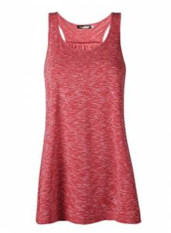 Damen Tank Top Sommer Sports Shirts Oberteile Frauen Baumwolle Lose Ärmellos for Yoga Jogging Laufen Workout-rd-s von Lantch