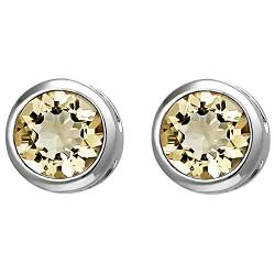 JOBO Damen Ohrstecker 925 Sterling Silber 2 Citrine orange Ohrringe von Jobo