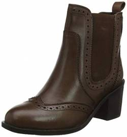 Joe Browns Damen Dapper Debbie Leather Chelsea Boots Kurzschaft Stiefel, (Brown A), 4 EU von Joe Browns
