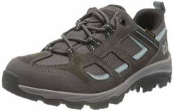 Jack Wolfskin Damen Vojo 3 Texapore Low W Outdoorschuhe, Tarmac Grey/Light Blue, 37 EU von Jack Wolfskin