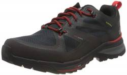 Jack Wolfskin Herren Force Striker Texapore Low Walking-Schuh, Phantom/Red, 44.5 EU von Jack Wolfskin