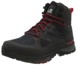 Jack Wolfskin Herren Force Striker Texapore Mid Walking-Schuh, Phantom/Red, 45,5 EU von Jack Wolfskin