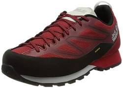 Jack Wolfskin Herren Scrambler 2 Texapore Low Walking-Schuh, Black/Red, 42 EU von Jack Wolfskin