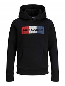 JACK & JONES Jungen Jjecorp Logo Noos Jr Hooded Sweatshirt, Black 5, 164 EU von Jack & Jones Junior